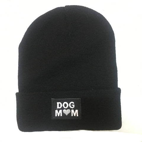 Knitted Dog Mom Beanie