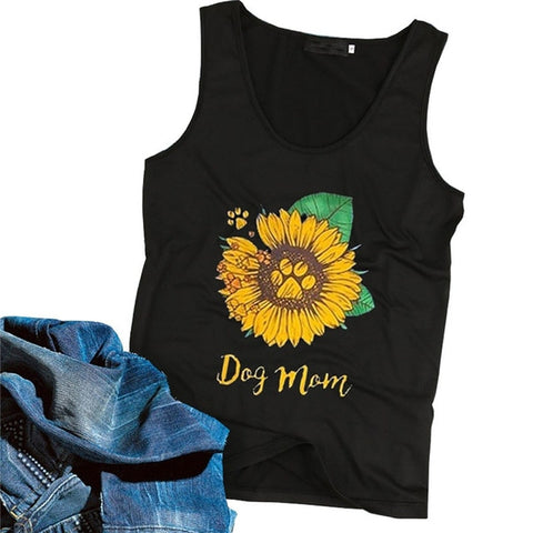 Sunflower Dog Mom Top - My Naked Dog