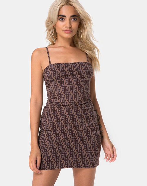Selah Mini Dress in Chinese Moon By Motel