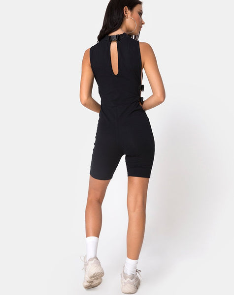 Acmos Unitard in Black By Motel