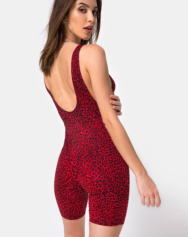 Acro Unitard in Coloured Animal by Motel