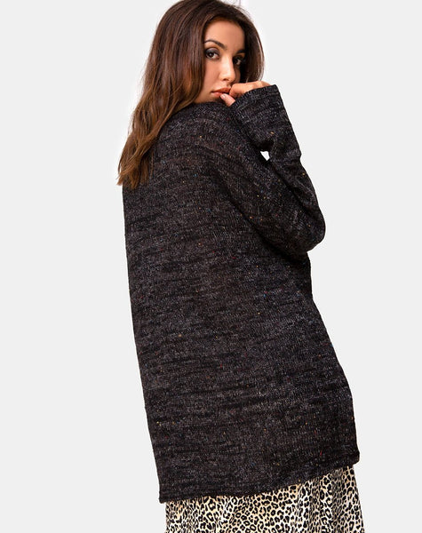 Ajie Jumper in Black Knit by Motel