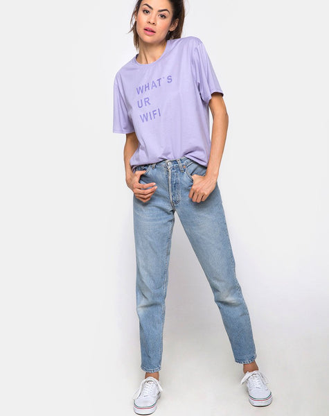 Oversize Basic Tee in What's Ur Wifi by Motel