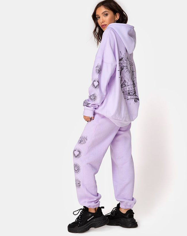 Oversize Hoody in Lilac 'All Of My Bones' by Motel
