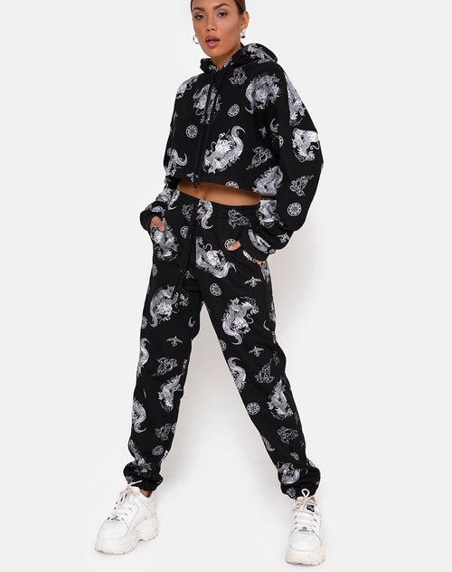 Basta Jogger in Dragon Black by Motel