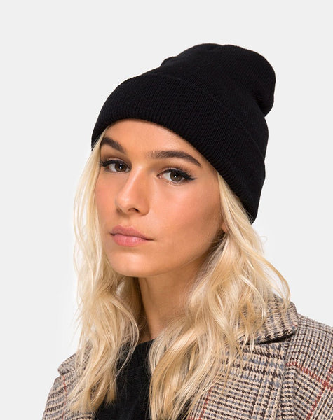 Beanie Hat in Black by Motel