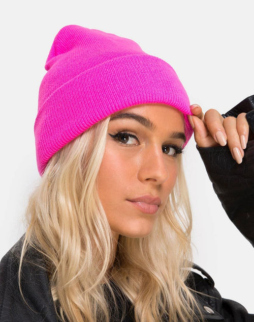 Beanie Hat in Hot Pink by Motel