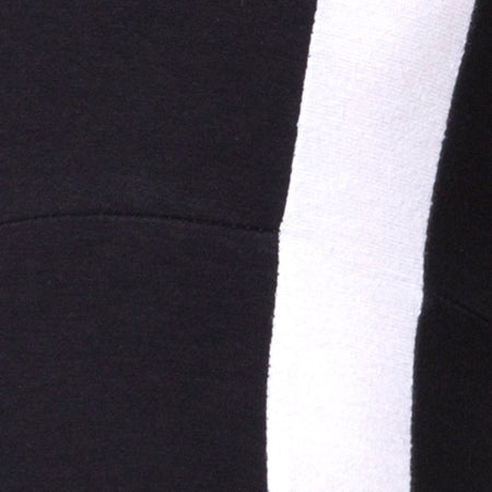 Beripe Plunge Unitard in Black with White Stripe by Motel