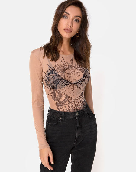 Bonnie Crop Top in Black Love At First Swipe by Motel