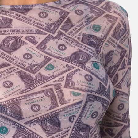 Bonnie Crop Top in Dollar Bill by Motel