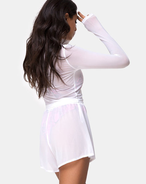 Bonnie Crop Top in Net White by Motel