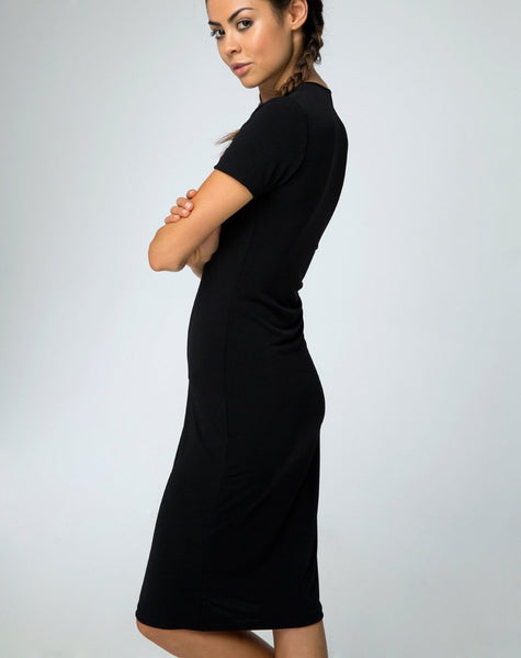 Callow Bodycon Dress in Black by Motel