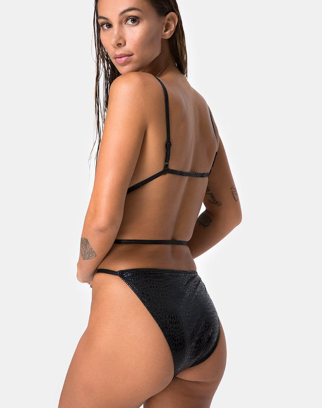 Conis Swimsuit in Snake Black by Motel