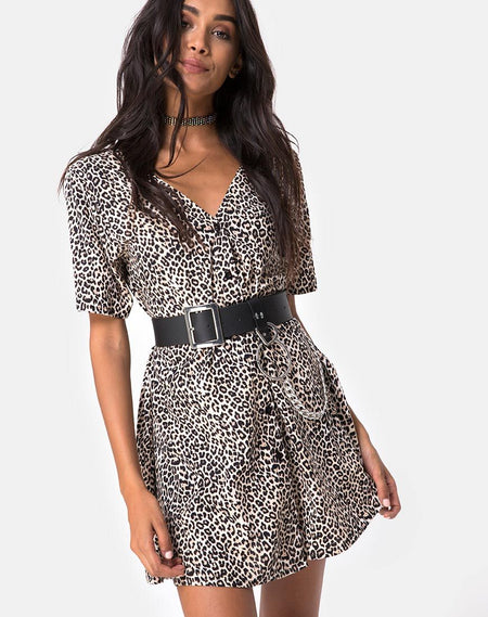 Elara Dress in Cheetah by Motel