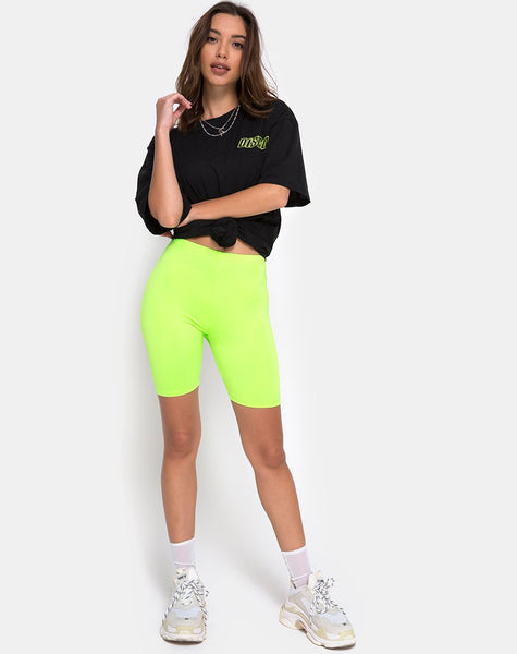 Bike Short in Fluro Green by Motel