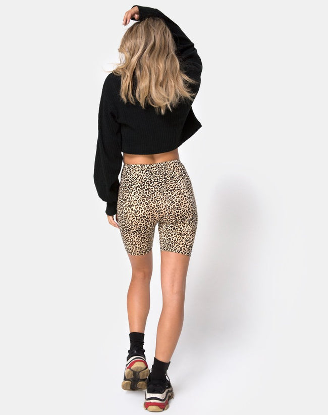 Cycle Short in Rar Leopard Brown by Motel