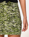 Kimmy Mini Skirt in Zebra Fluro Green
