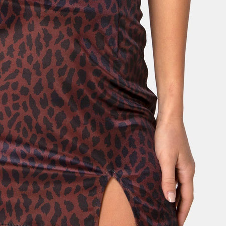 Dina Mini Skirt in Coco Animal by Motel