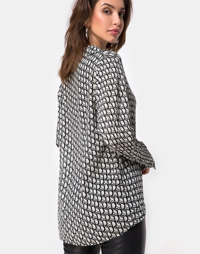 Disam Shirt in Blue Disco By Motel