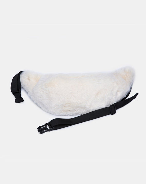 Bumbag in Fur White By Motel