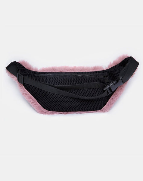 Bumbag in Fur Pink By Motel