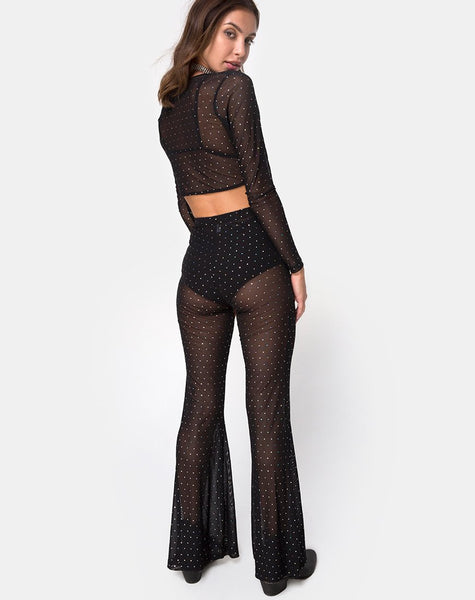 Herlom Trouser in Net Crystal Black by Motel X Princess Polly