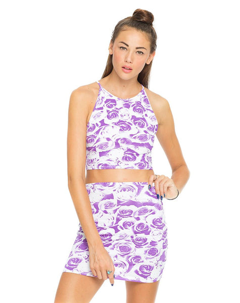 Motel Folly Crop Top in Monorose Lilac