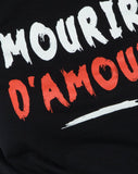 Girl Fit Tee in Mourir D'Amour Black by Motel
