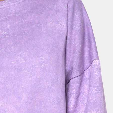 Glo Sweatshirt in Purple Acid Wash by Motel