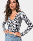 Guanelle Top in Dalmation by Motel