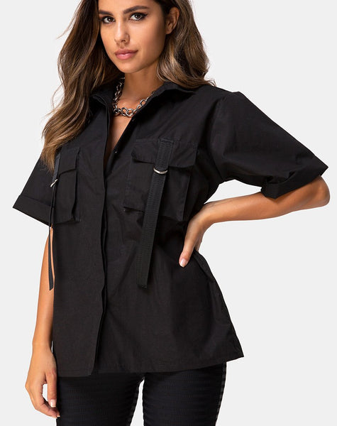 Haimen Shirt in Black by Motel