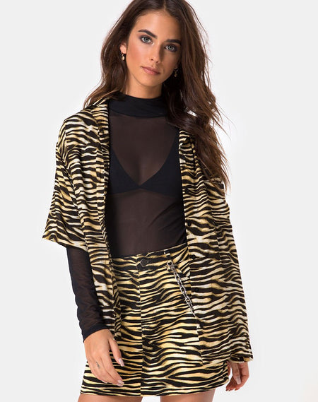 Sunny Kiss Oversize Tee in Trippy Zebra Clear Sequin by Motel