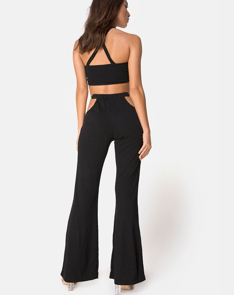 Herla Hardware Trouser in Black by Motel