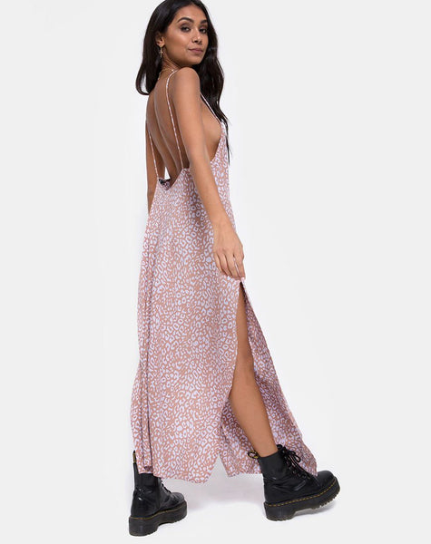 Hime Maxi Dress in Leopard Spot by Motel