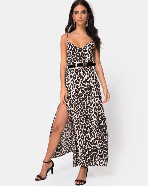 Hime Maxi Dress in Oversize Jaguar by Motel