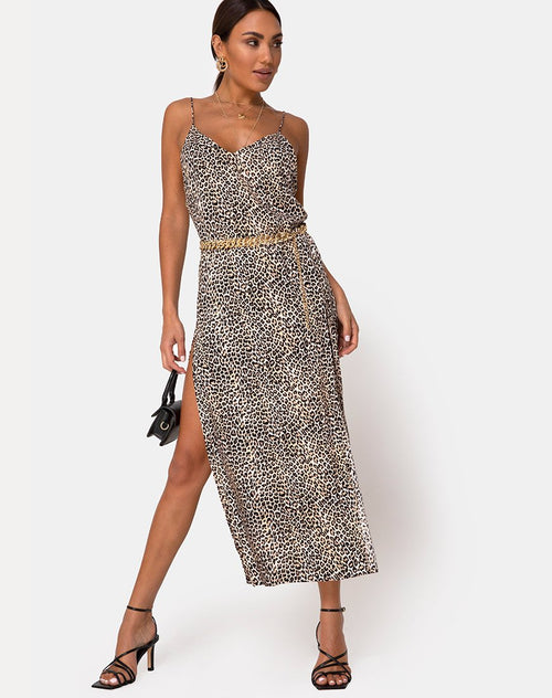 Hime Maxi Dress in Rar Leopard by Motel