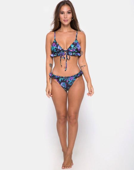 Grifin Bikini Bottom in Triple Stripe by Motel