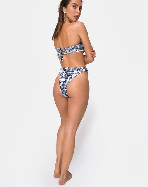 Izarla Bikini Tube Top in Cherub Grey by Motel