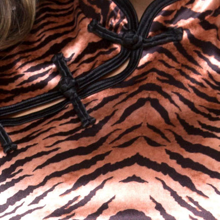 Jakina Crop Top in Tiger Satin by Motel