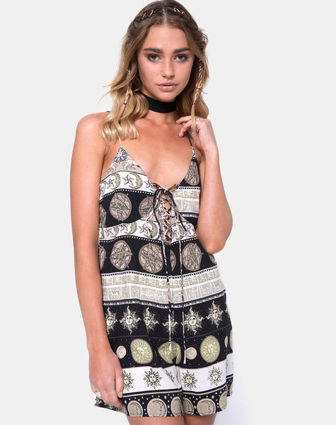 Javier Playsuit in Eclipse Repeat by Motel