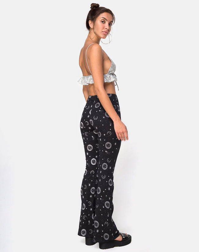 Jeevan Trouser in Small Celestial Black by Motel X Princess Polly