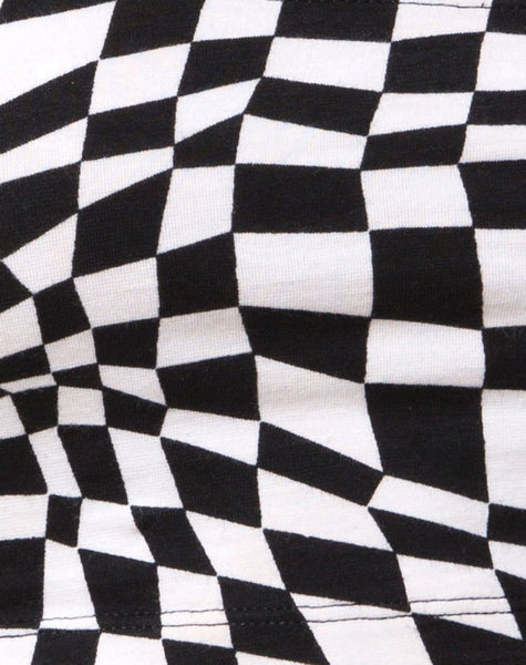 Jeevan Twinset in Square Flag Black and White by Motel
