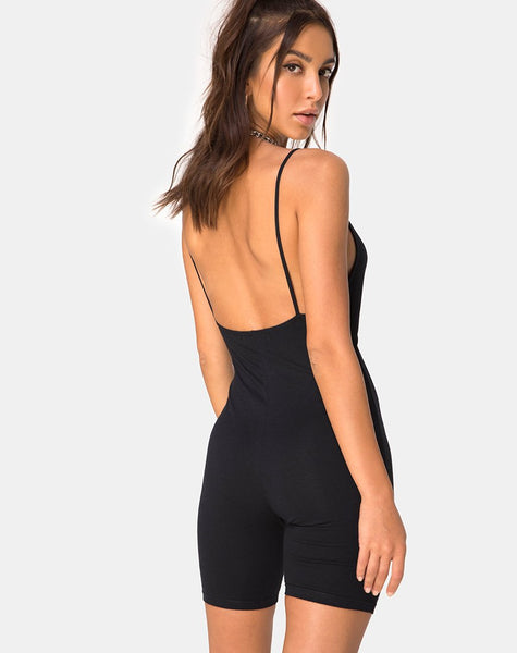Jepu Unitard in Black by Motel