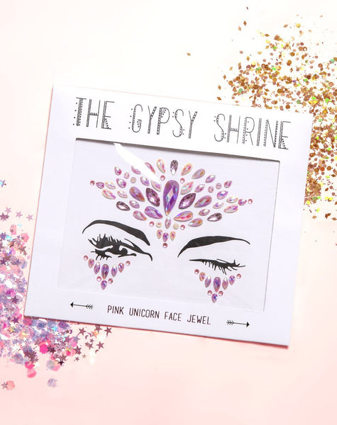 The Gypsy Shrine Face Jewel in Pink Unicorn