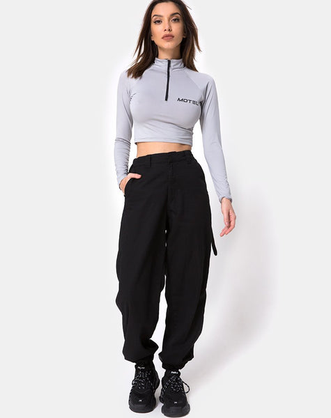 Jubie Cargo Trouser in Black Drill by Motel