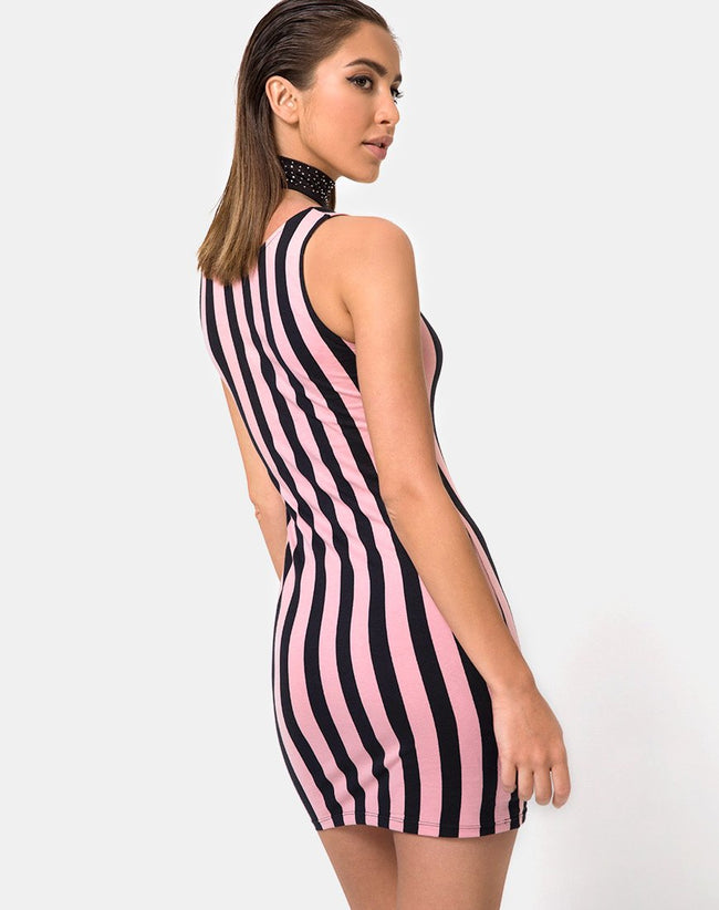 Katia Dress in Campbell Stripe by Motel