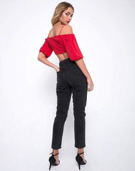 Kavon Crop Top in Red by Motel