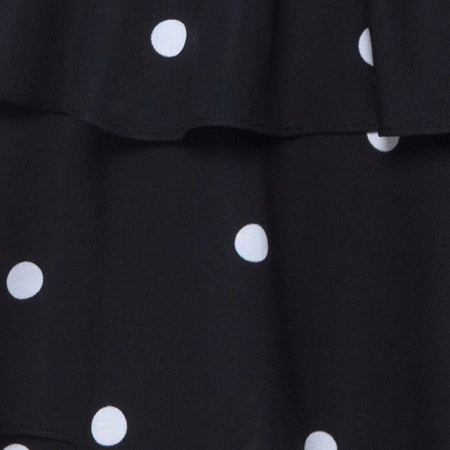 Kepsibelle Dress in Black and White Polkadot by Motel