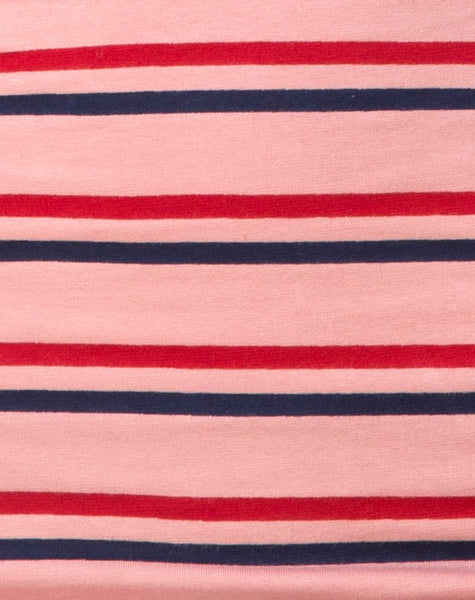 Kimmy Skirt in 70's Stripe Pink Horizontal by Motel
