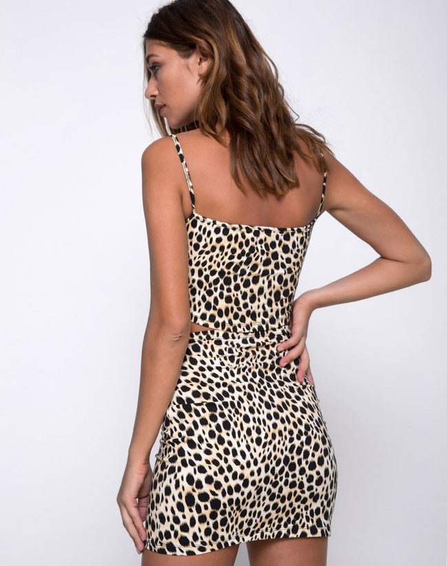 Kimmy Skirt in Cheetah by Motel